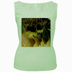 Wing Feather Bird Animal World Women s Green Tank Top