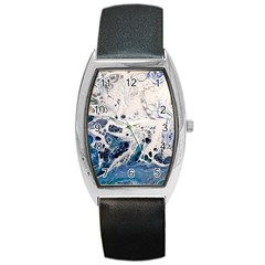 Paint Acrylic Paint Art Colorful Barrel Style Metal Watch