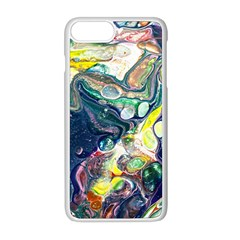 Paint Acrylic Paint Art Colorful Iphone 8 Plus Seamless Case (white)