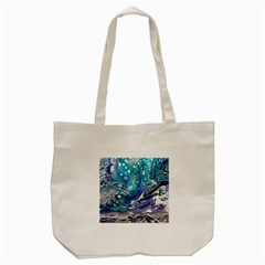 Paint Acrylic Paint Art Colorful Tote Bag (cream)
