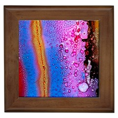 Art Abstract Background Color Framed Tiles