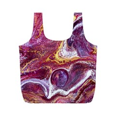 Paint Acrylic Paint Art Colorful Full Print Recycle Bag (m)