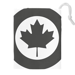 Roundel Of Canadian Air Force   Low Visibility Drawstring Pouch (xxxl) by abbeyz71