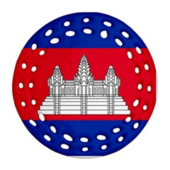 National Flag Of Cambodia Ornament (round Filigree) by abbeyz71