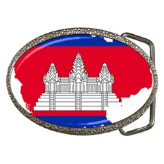 Flag Map Of Cambodia Belt Buckles by abbeyz71