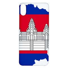 Flag Map Of Cambodia Iphone X/xs Soft Bumper Uv Case