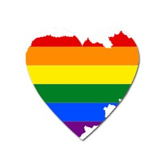 Lgbt Flag Map Of Cambodia Heart Magnet by abbeyz71