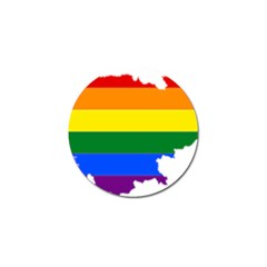 Lgbt Flag Map Of Cambodia Golf Ball Marker (10 Pack) by abbeyz71