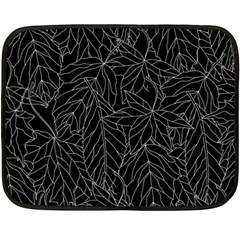 Autumn Leaves Black Double Sided Fleece Blanket (mini)  by Jojostore