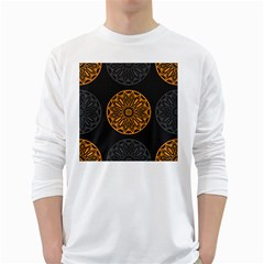 Background Design Pattern Tile Long Sleeve T-shirt