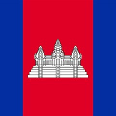 Vertical Display Of National Flag Of Cambodia Magic Photo Cube by abbeyz71