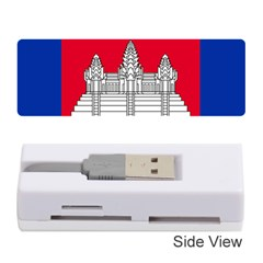 Vertical Display Of National Flag Of Cambodia Memory Card Reader (stick) by abbeyz71