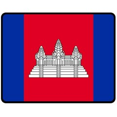 Vertical Display Of National Flag Of Cambodia Double Sided Fleece Blanket (medium)  by abbeyz71