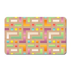 Abstract Background Colorful Magnet (rectangular) by HermanTelo
