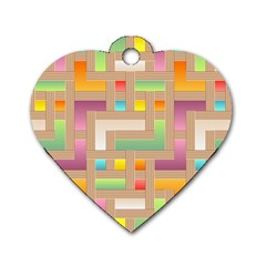 Abstract Background Colorful Dog Tag Heart (two Sides) by HermanTelo