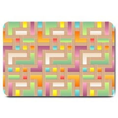 Abstract Background Colorful Large Doormat  by HermanTelo