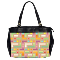 Abstract Background Colorful Oversize Office Handbag (2 Sides) by HermanTelo