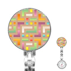 Abstract Background Colorful Stainless Steel Nurses Watch by HermanTelo