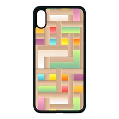 Abstract Background Colorful Iphone Xs Max Seamless Case (black)