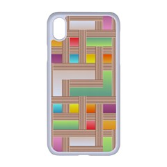 Abstract Background Colorful Iphone Xr Seamless Case (white)