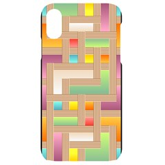 Abstract Background Colorful Iphone Xr Black Uv Print Case