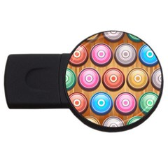 Background Colorful Abstract Brown Usb Flash Drive Round (2 Gb)