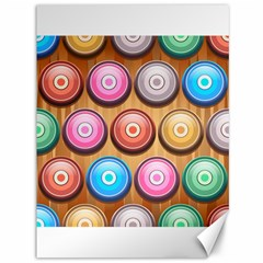 Background Colorful Abstract Brown Canvas 36  X 48  by HermanTelo