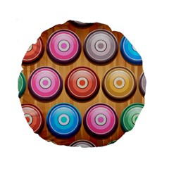 Background Colorful Abstract Brown Standard 15  Premium Round Cushions