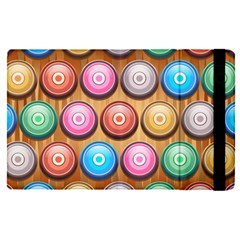 Background Colorful Abstract Brown Apple Ipad Pro 9 7   Flip Case