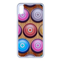 Background Colorful Abstract Brown Iphone Xs Max Seamless Case (white)