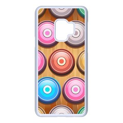 Background Colorful Abstract Brown Samsung Galaxy S9 Seamless Case(white)