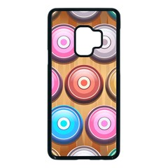Background Colorful Abstract Brown Samsung Galaxy S9 Seamless Case(black)