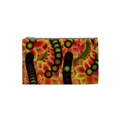 Abstract Background Digital Green Cosmetic Bag (small) by HermanTelo