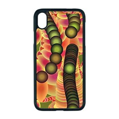 Abstract Background Digital Green Iphone Xr Seamless Case (black)