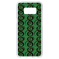 Abstract Pattern Graphic Lines Samsung Galaxy S8 White Seamless Case