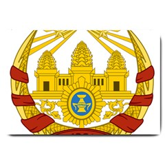 Coat Of Arms Of Khmer Republic, 1970-1975 Large Doormat  by abbeyz71