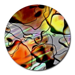 Abstract Transparent Drawing Round Mousepads by HermanTelo