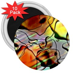Abstract Transparent Drawing 3  Magnets (10 Pack)  by HermanTelo