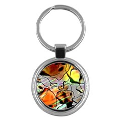 Abstract Transparent Drawing Key Chain (round) by HermanTelo