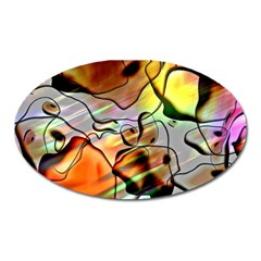 Abstract Transparent Drawing Oval Magnet by HermanTelo