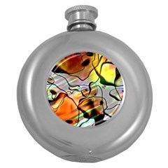 Abstract Transparent Drawing Round Hip Flask (5 Oz) by HermanTelo