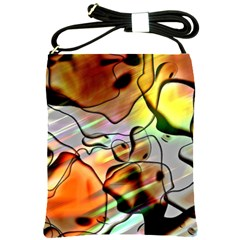 Abstract Transparent Drawing Shoulder Sling Bag by HermanTelo
