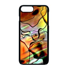 Abstract Transparent Drawing Iphone 8 Plus Seamless Case (black)