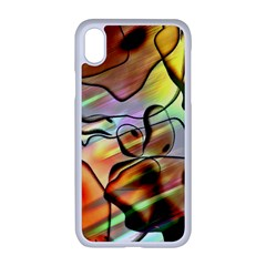 Abstract Transparent Drawing Iphone Xr Seamless Case (white)