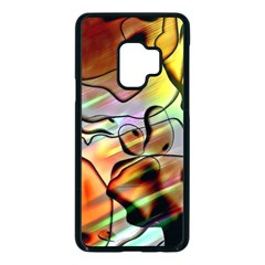 Abstract Transparent Drawing Samsung Galaxy S9 Seamless Case(black)