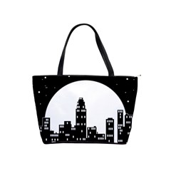 City Night Moon Star Classic Shoulder Handbag by HermanTelo