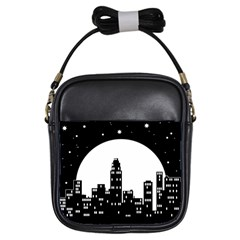 City Night Moon Star Girls Sling Bag by HermanTelo