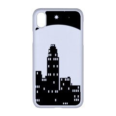 City Night Moon Star Iphone Xr Seamless Case (white)