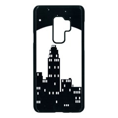 City Night Moon Star Samsung Galaxy S9 Plus Seamless Case(black) by HermanTelo
