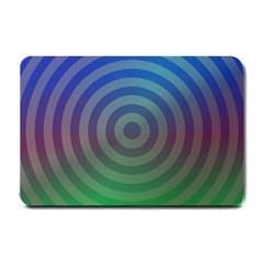 Blue Green Abstract Background Small Doormat  by HermanTelo